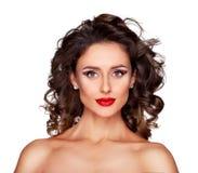 Makeup dla oczu i warg Fotografia Royalty Free