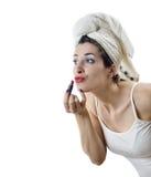 Makeup efter dusch Royaltyfria Bilder