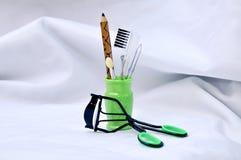 Makeup equipment set Stock Image