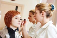 Makeup eye mascara application Royalty Free Stock Photo