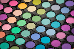 Makeup eye shadow palette Royalty Free Stock Photos