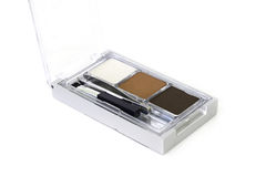 Makeup eyebrow powder colors isolate on white background Stock Image