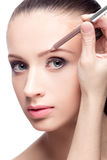 Makeup for eyebrows Stock Image