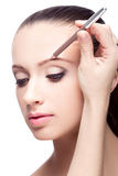 Makeup for eyebrows Royalty Free Stock Photography
