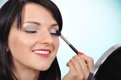Makeup eyelashes Stock Photography
