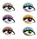 Makeup eyes set Stock Photos