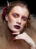 Makeup för allhelgonaaftonskönhetkvinna Royaltyfria Foton