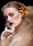 Makeup för allhelgonaaftonskönhetkvinna Arkivbilder