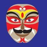 Makeup för maskering för Peking opera Arkivfoton