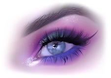 Makeup för modekvinnaöga Arkivbild