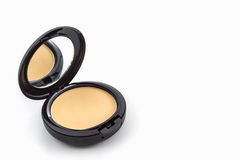 Makeup, Face powder in black case. Royalty Free Stock Photos
