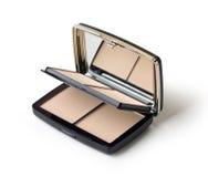 Makeup. Face powder Stock Photo