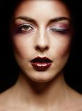 Makeup fashion face chart Royalty Free Stock Image