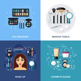 Makeup Flat Set Royalty Free Stock Photos