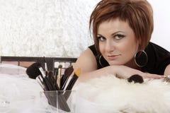 Makeup girl Royalty Free Stock Image