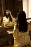 Makeup girl - eyebrow royalty free stock photography
