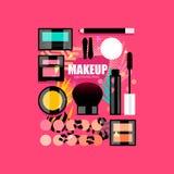 Makeup glam set Royalty Free Stock Photo