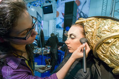 Makeup and hair artists competition Stock Photography