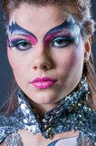 Makeup and hair artists competition Royalty Free Stock Image