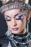 Makeup and hair artists competition Stock Images
