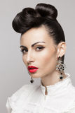 Makeup and hairstyle Royalty Free Stock Image