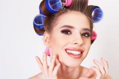 Makeup i fryzura zdjęcie stock