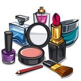 Makeup i pachnidła Obrazy Royalty Free