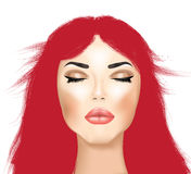 Makeup i włosy Obrazy Stock