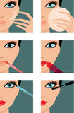 Makeup icons. Royalty Free Stock Photography