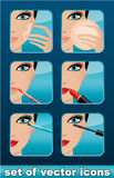 Makeup icons. Royalty Free Stock Photos