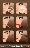 Makeup icons. Stock Photography