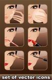 Makeup icons. stock illustration
