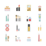Makeup icons. Set of beauty and makeup icons Royalty Free Stock Image