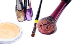 Makeup isolated on white Stock Images