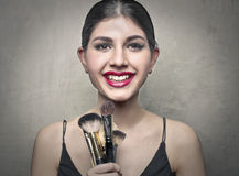 Makeup items Royalty Free Stock Images