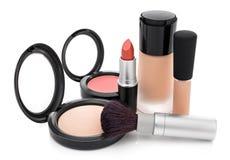 Makeup kolekcja dla naturalnego spojrzenia Fotografia Royalty Free