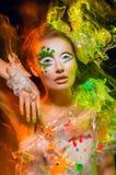 makeup kolorowa kobieta Obrazy Royalty Free