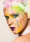 makeup kolorowa kobieta Zdjęcie Royalty Free