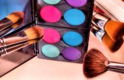 Makeup koloru paleta Zdjęcia Royalty Free