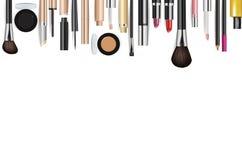 Makeup kosmetyków narzędzia Moda wektoru tło ilustracji