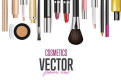 Makeup kosmetyków narzędzia Moda wektoru tło ilustracja wektor