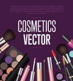 Makeup kosmetyków narzędzia Moda wektoru tło Obrazy Royalty Free