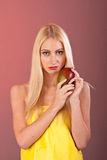 Makeup like mango on woman face Royalty Free Stock Photos