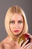 Makeup like mango on woman face Royalty Free Stock Photos