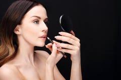 Makeup, lip makeup Stock Photo