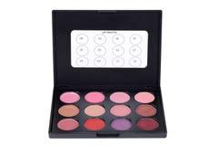 Makeup lip palette Stock Images