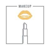 Makeup lipstick logo design background Royalty Free Stock Photos