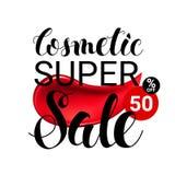 Makeup lipstick smear cosmetics Sale Concept. Good Ads Design Elements flyer poster banner. Vector Illustration Modern Stock Photography