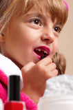 Makeup little girl Royalty Free Stock Photos
