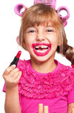 Makeup little girl Royalty Free Stock Image